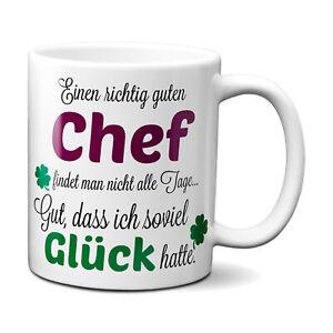 Einen richtig guten Chef - Kaffeetasse mit Spruch Geschenk Bester Chef der Welt