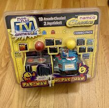 2004 Jakks Namco PAC-MAN And MS PAC MAN Joysticks Plug & Play TV Games COMBO NEW