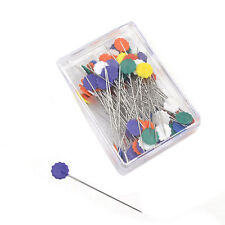 100pcs 45//55 mm Pins Patchwork Button Head Pins Long Coloured Quilting Tools 8C