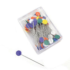 50 pcs Flower Head Pins Extra Long Coloured 52 mm Pins Patchwork Quilting T X6Y9