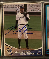 MIKE FIERS SIGNED CARD AUTO MILB HELENA BREWERS