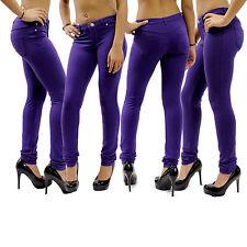 Mujer Pitillo Pantalones Vaqueros Elásticos Jeggings Para De Color Talla 36 26