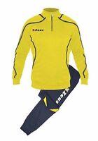 Tuta uomo zeus allenamento training palestra fitness blu giallo grigio M L XL 2X