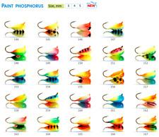 "Tungsten ICE FISHING ""SHARK"" Jig Heads Multicolor. Japanese hooks. 2pcs. #8243"