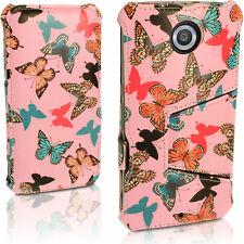 PU Leather Flip Case for Motorola Google Nexus 6 Xt1100 Stand Book Folio Cover Butterfly Pattern