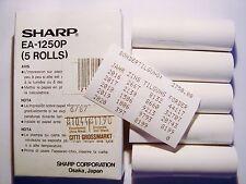 5 Rollen Papier Sharp EA 1250P CE 126 P 129 125 123 50 PC E500 1403 1262 #11Z89
