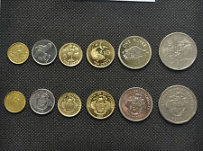 Seychelles 5,1 Rupees. 25,10,5,1 Cents coins. Uncirculated. Africa. 6Pcs