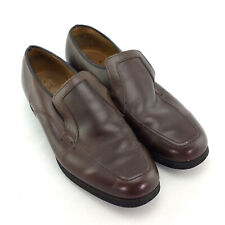 Mens 8.5 Hush Puppies Slip On Dress Shoes Penny Loafers Brown Leather Vintage