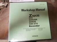 Hitachi zaxis Workshop Manual Complete
