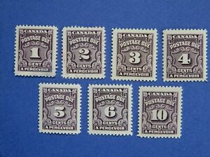 #J15-J20 MNH to used (see details below)  Fourth Postage Due Issue  CV=$6.65