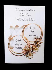 Handmade Personalised Wedding Day Congratulations Card