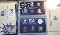 2001-S United States Mint Proof Set w/State Quarters