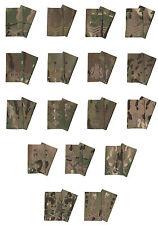 Pair Of Bronze on Multicam / MTP Rank Slides ( Multi Terrain Pattern - All Ranks