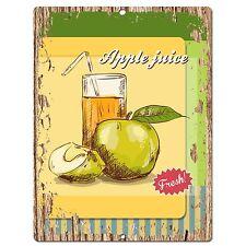 PP0545 Apple Juice Plate Chic Sign Bar Store Shop Cafe Restaurant Kitchen Decor