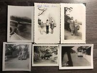 Photo Car Vintage Old Black And White Lot