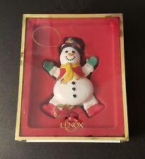 Lenox Snowman Pull Toy Ornament Porcelain Nice!