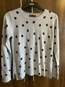 M & S COLLECTION LONG-SLEEVE SUPER SOFT DOTTY JUMPER SIZE 10