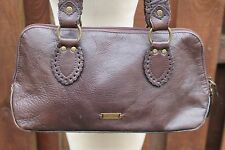 HIDESIGN Shopper Tote Carry Shoulder Work Hobo Bag Dark Brown Leather Whipstitch