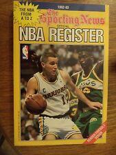 1992 - 1993 THE SPORTING NEWS OFFICIAL NBA REGISTER CHRIS MULLIN SHAWN KEMP