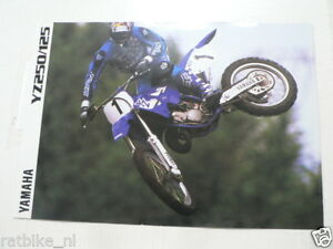 Y327 YAMAHA BROCHURE YZ250/125 CROSS MODEL 1998 ? ENGLISH 6 PAGES
