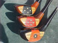PERSIMMON Powerbilt Citation Golf Clubs Set Woods Driver 3 4 w New Tour Grips