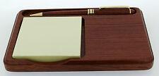 Rosewood Desk Notelet Holder with Pen