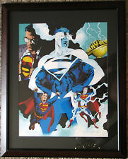 SUPERMAN: MAN Of TOMORROW Ltd Ed PRINT HAND SIGNED Immonen & Marzan WB Exclusive