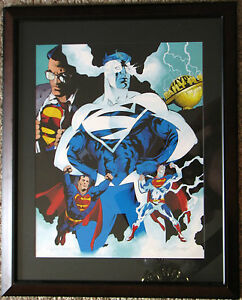 SUPERMAN: MAN Of TOMORROW Ltd Ed PRINT HAND SIGNED Immonen & Marzan WB Exclusive