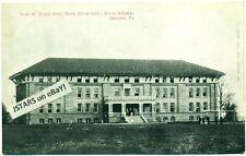 c. 1908 INDIANA, PA, INDIANA UNIVERSITY OF PENNSYLVANIA, CLARK HALL POSTCARD