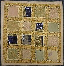 "Indian Sari Patchwork Cushion Cover 16"" x 16"" - White CU132"