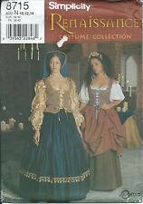 S 8715 sewing pattern Renaissance COSTUME Blouse Skirt Hat Vest sew SCA 10,12,14