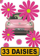 33 CERISE DAISY FLOWER CAR STICKERS DECALS GRAPHICS INTERIOR WALL WINDOW CAR