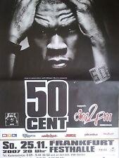 50 CENTIMES 2007 FRANCFORT + + Orig. Concert Poster-concert affiche NEUF