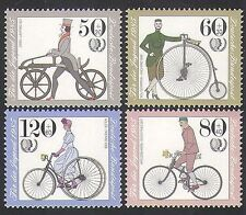 Germany 1985 Bicycles/Bikes/Cycling/Transport/Youth Welfare 4v set (n35571)