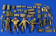 Verlinden 1/35 M101 105mm Howitzer (M2A1) Ammo,Gear & Crew WWII (4 Figures) 2763