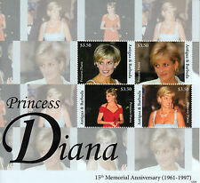 Antigua & Barbuda 2012 MNH Princess Diana 15th Memorial 4v M/S Royalty Stamps