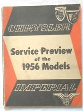 1956 CHRYSLER AND IMPERIAL SERVICE PREVIEW MANUAL ORIGINAL  MOPAR