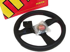 MOMO Steering Wheel - Monte Carlo (320mm/Leather/Red Stitch & Horn/Black Spoke)