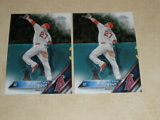 2016 Topps Chrome #1 Mike Trout 2 Card Lot