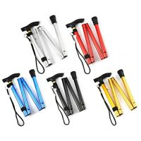 Adjustable Aluminum Metal Cane Walking Stick Folding Column Outdoor Trekking