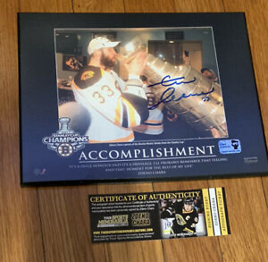 Zdeno Chara Boston Bruins signed autographed Plaque Stanley Cup 8x10 YSMS