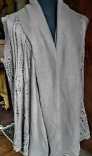NWT Calvin Klein Jeans  taupe Flyaway Sweat knit vest size S