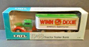 ERTL 1948 Winn Dixie Tractor Trailer Bank Diecast 1/43 Scale New Original Box