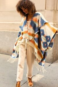 Free People Crossroads Oversized Poncho MSRP $88 One Size