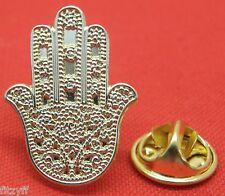 Hamsa Lapel Hat Cap Tie Pin Badge Khamsa hand of Fatima Brooch khomsah Islam