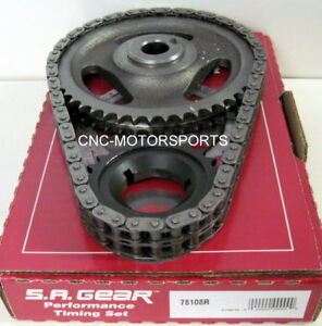 Ford FE 330 352 390 427 428 SA Gear .250 Double Roller Timing Chain 3 Keyway