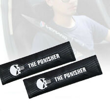 "2PCS "" The Punisher "" Car Seat Belt Safety Shoulder Strap Cover Cushion Harness"