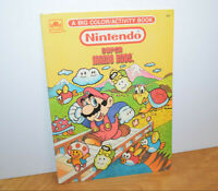 Vintage NINTENDO SUPER MARIO BROS Coloring Book 1989 NES Retro Partially Used