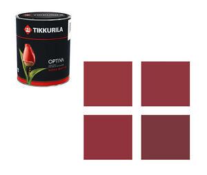 (14,50€/L) Tikkurila Wandfarbe Optiva 2,75 L - Farbtöne rot-braun Markenqualität