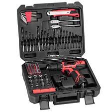 12V Cordless Drill/Driver Bit combi cordless drill  batts 77pcs Project Kit